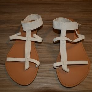 4 for $8 White Sandals